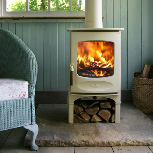 Stove World Product Range - Wood Burning Stoves Glasgow - Charnwood C4 Almond