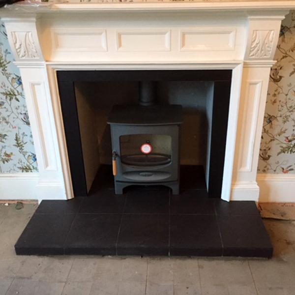 Stove World Glasgow Customer Stove Installations - Charnwood C5 Woodburning Stove Hamilton