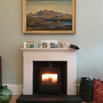 Stove World Glasgow Customer Stove Installations - Charnwood Sky Stove Glasgow