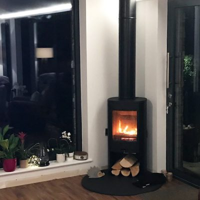 Stove World Glasgow Customer Stove Installations - Contura 8 Series Stove Strathaven