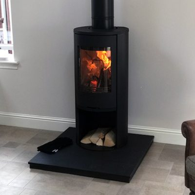 Stove World Glasgow Customer Stove Installations - Charnwood 5 Series Stove Uddingston