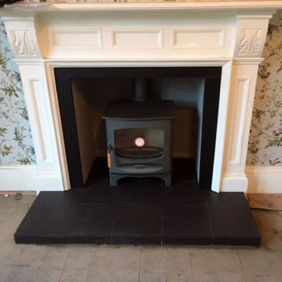 Stove World Glasgow Customer Stove Installations - Charnwood C5 Woodburning Stove Hamilton