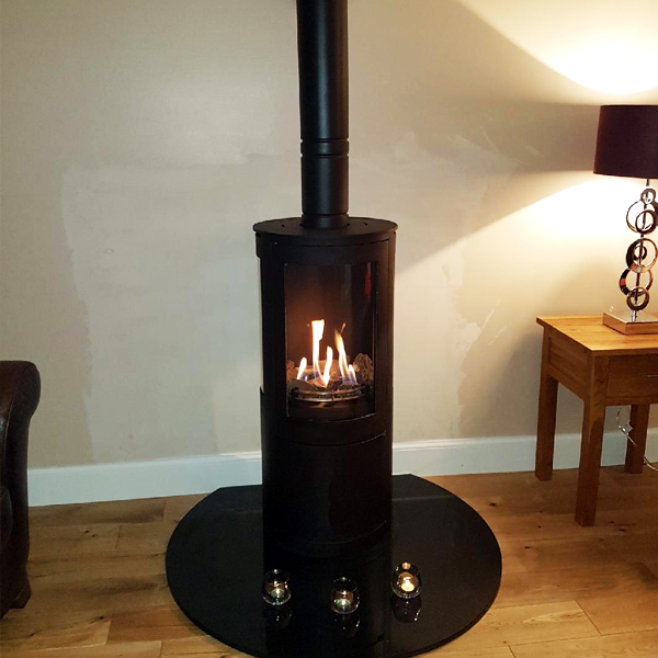 Stove World Glasgow Customer Stove Installations - Contemporary Gas Stove Carluke